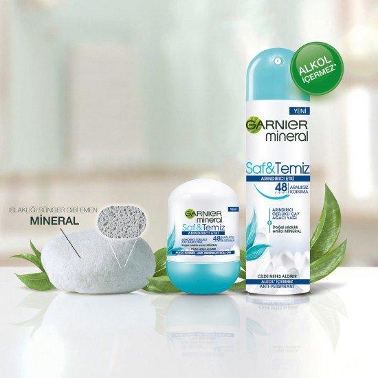 Garnier Mineral Saf&Temiz Kadın Roll-On Deodorant
