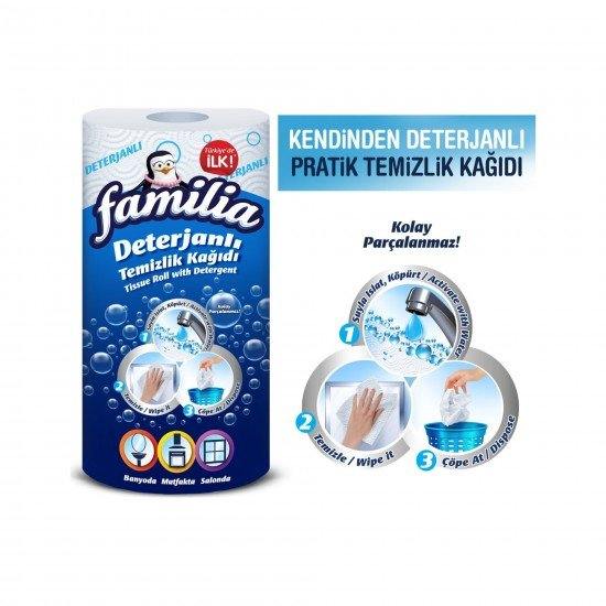 Familia Deterjanlı Temizlik Kağıdı 50 Yaprak