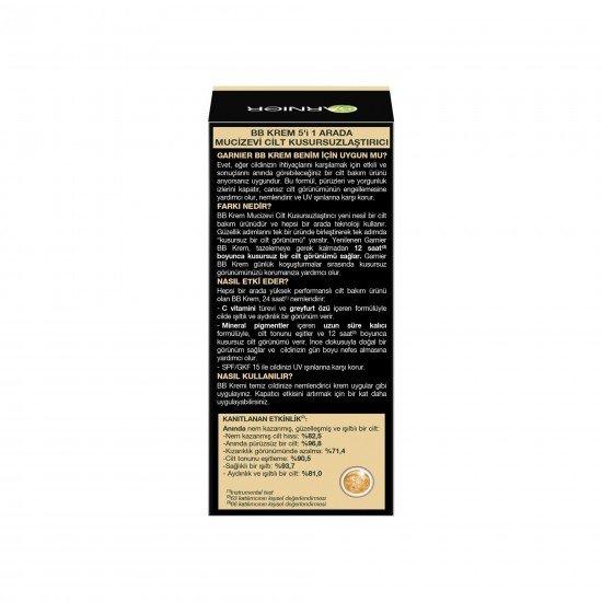 Garnier BB Krem Mucizevi Cilt Kusursuzlaştırıcı Orta Ton 50 Ml