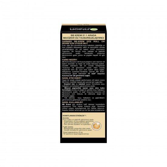 Garnier BB Krem Mucizevi Cilt Kusursuzlaştırıcı Göz Roll-On Açık Ton 7 ML