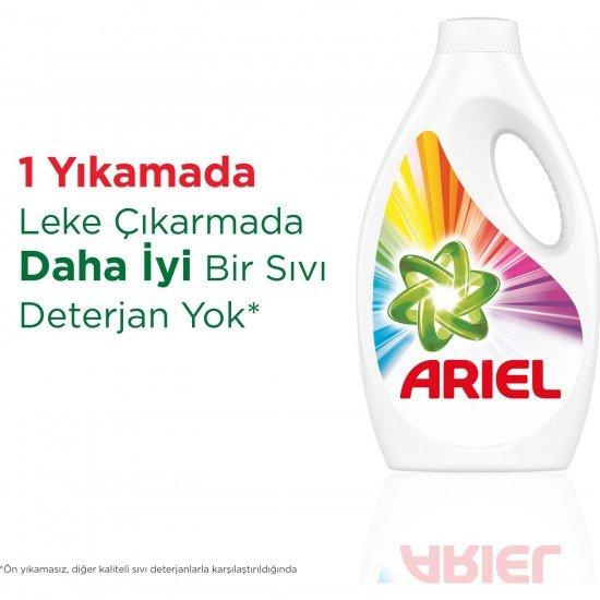 Ariel 24 Yıkama Sıvı Çamaşır Deterjanı Parlak Renkler