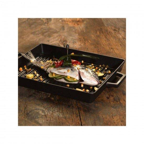 Lava Döküm Izgara Tava 26 x 32 cm Metal Kulplu