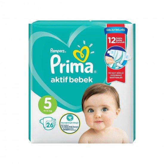 Prima Bebek Bezi Aktif Bebek 5 Beden 26 Adet Junior İkiz Plus Paket