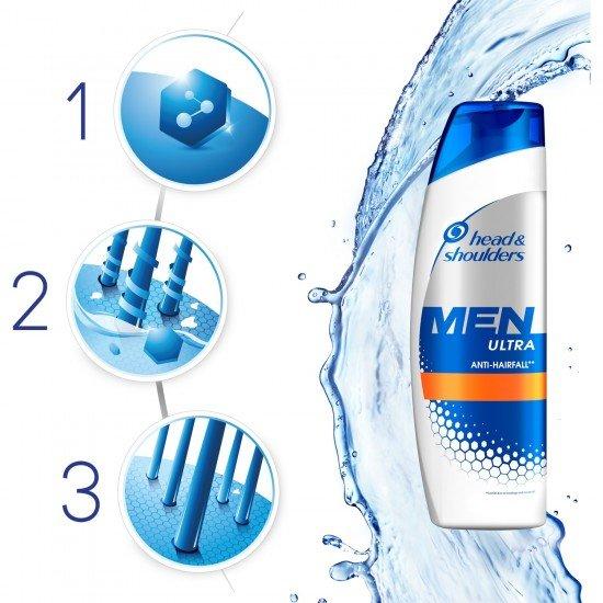 Head & Shoulders Men Ultra Erkeklere Özel Şampuan Saç Dökülmelerine Karşı 360 Ml