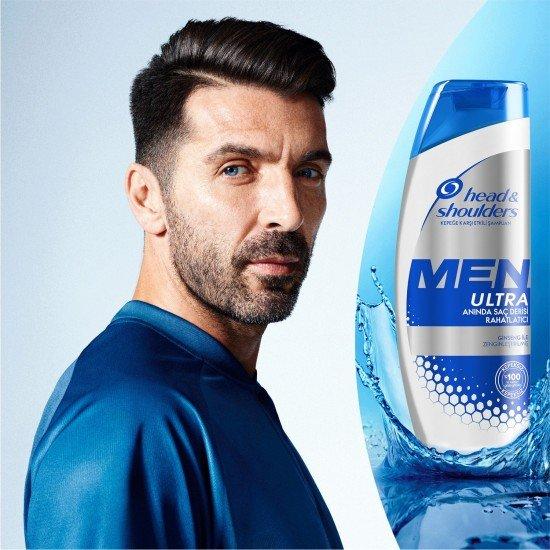 Head & Shoulders Men Ultra Erkeklere Özel Şampuan Anında Saç Derisi Rahatlatıcı 360 Ml