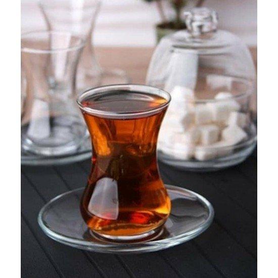 Lav Başak Çay Seti Şekerlik Hediyeli 12 Parca