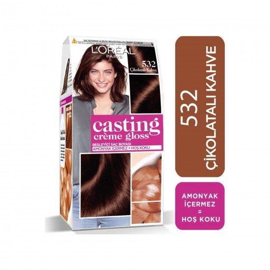 Loreal Paris Casting Creme Gloss Saç Boyası 532 Çikolatalı Kahve