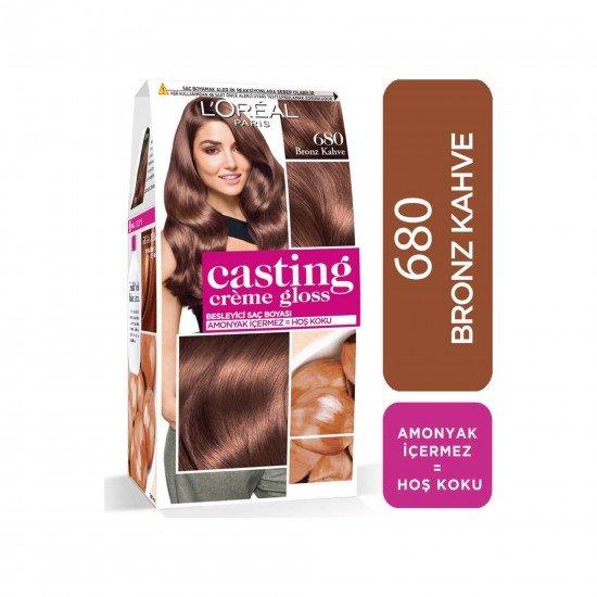 Loreal Paris Casting Creme Gloss Saç Boyası 680 Bronz Kahve