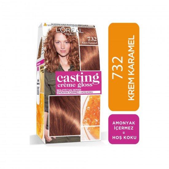 Loreal Paris Casting Creme Gloss Saç Boyası 732 Krem Karamel