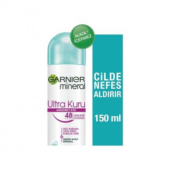 Garnier Mineral Ultra Kuru Kadın Sprey Deodorant 150 ML