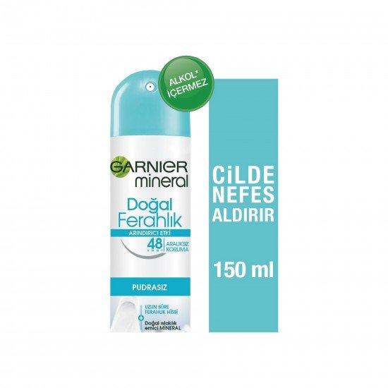 Garnier Mineral Doğal Ferahlık Kadın Sprey Deodorant 150 ML