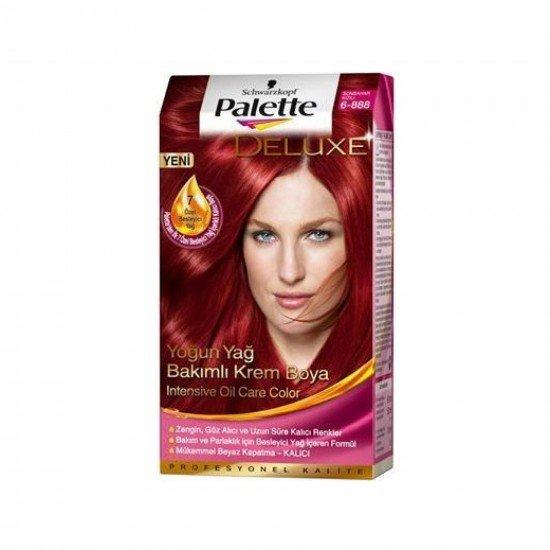 Palette Deluxe Yoğun Yağ Bakımlı Boya  6-888 Sonbahar Kızılı