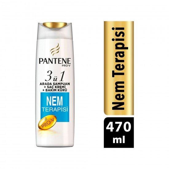 Pantene Nem Terapisi 3ü 1 Arada Şampuan ve Saç Bakım Kremi 470 ml