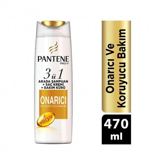 Pantene Onarıcı ve Koruyucu Bakım 3ü 1 Arada Şampuan ve Saç Bakım Kremi 470 ml