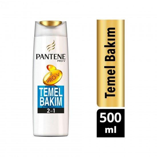 Pantene Temel Bakım 2si 1 Arada Şampuan ve Saç Bakım Kremi 500 ml