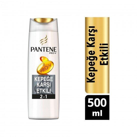 Pantene Kepeğe Karşı Etkili 2si 1 Arada Şampuan ve Saç Bakım Kremi 500 ml