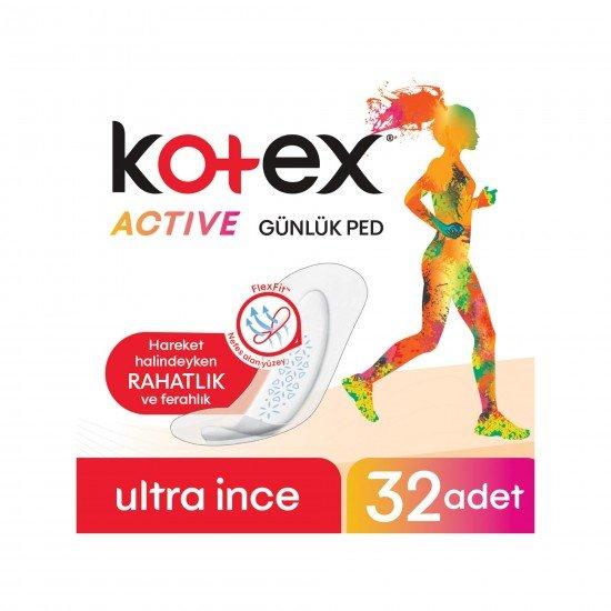 Kotex Active Günlük Ped 32 Adet