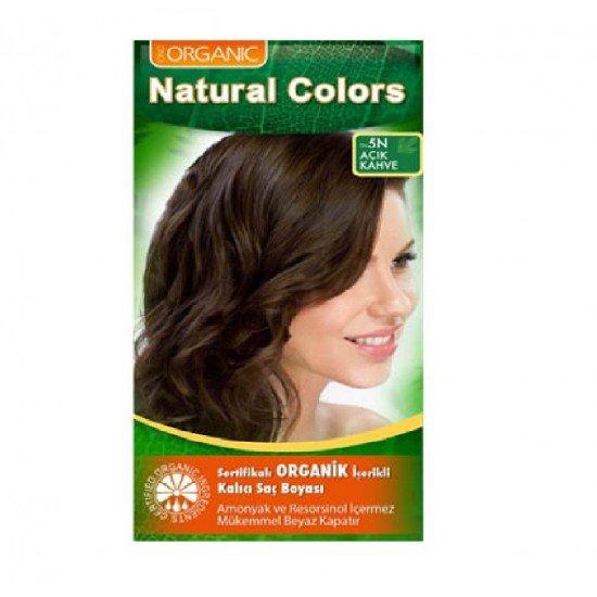 Organic Natural Colors Organic Boya 5N Açık Kahve