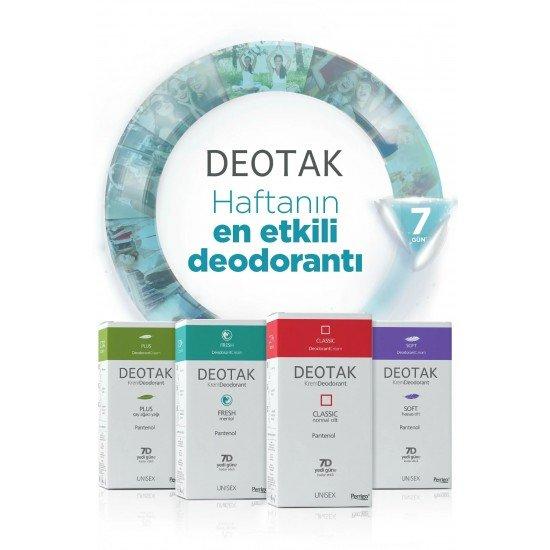 Deotak Normal Ciltler İçin Klasik Krem Deodorant 35 Ml