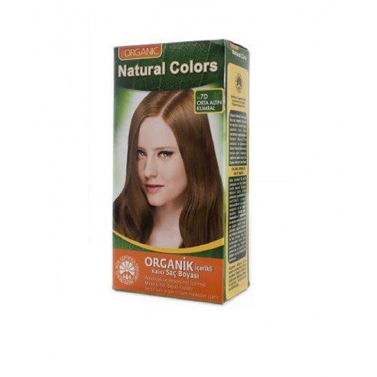 Organic Natural Colors 7D Orta Altın Kumral Saç Boyası