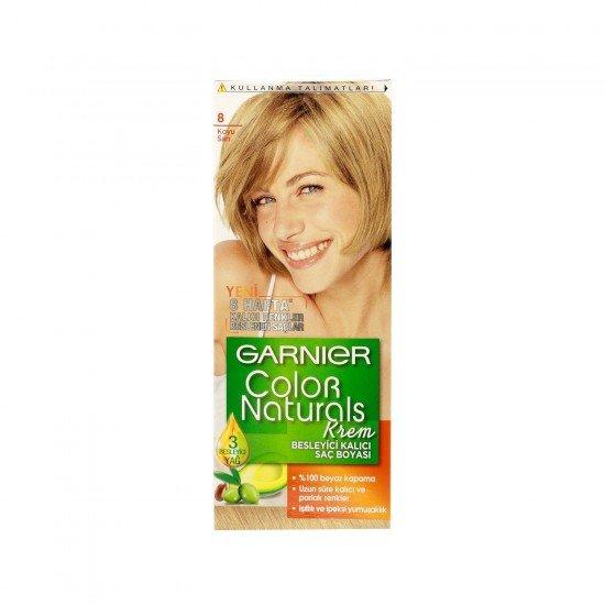 Garnier Color Naturals 8.0 Koyu Sarı Saç Boyası