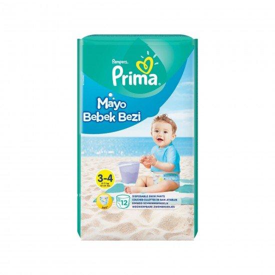 Prima Mayo Bebek Bezi 3-4 Beden 12 Adet Midi Tekli Paket