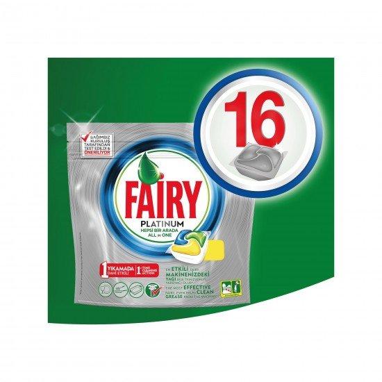 Fairy Platinum Bulaşık Makinesi Deterjanı Kapsülü Limon Kokulu 16 Yıkama