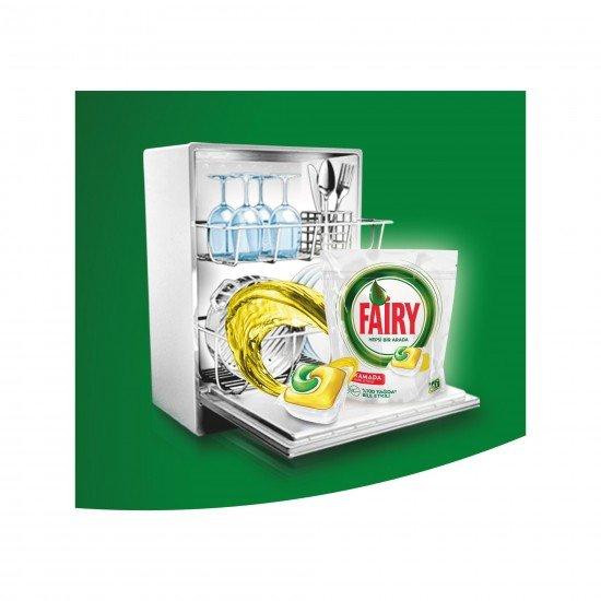 Fairy Hepsi Bir Arada Bulaşık Makinesi Deterjanı Kapsülü Limon Kokulu 22 Yıkama