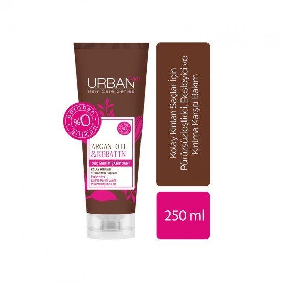 Urban Care Argan Yağı&Keratin İçeren Besleyici&Kırılma Karşıtı Şampuan 250 ml