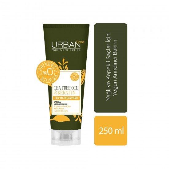 Urban Care Çay Ağacı Yağı&Keratin İçeren, Yoğun Arındırıcı & Kepek Karşıtı Şampuan 250 ml