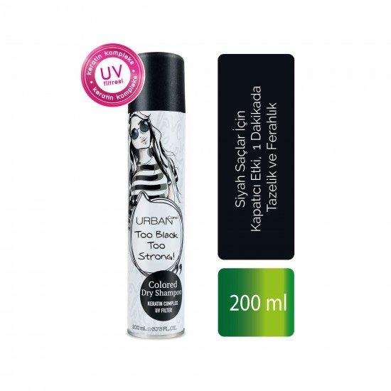 Urban Care Siyah Saçlar için Kapatıcı Etki, Tazelik ve Ferahlık Veren Kuru Şampuan 200 ml