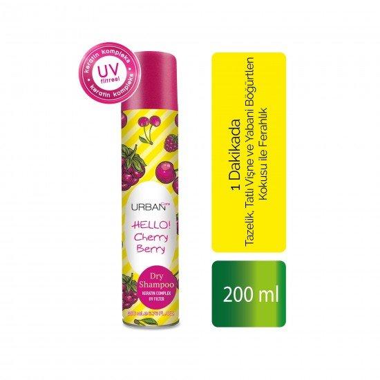 Urban Care Tatlı Vişne ve Yabani Böğürtlen Kokusuyla Ferahlık Sağlayan Kuru Şampuan 200 ml