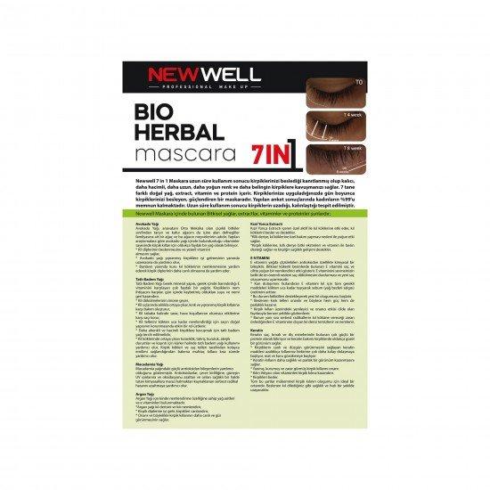 New Well Bio-Herbal Bitkisel Maskara 7İn1