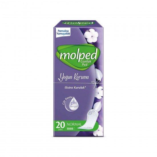 Molped Günlük Ped Koruma Parfümsüz Normal 20 Adet