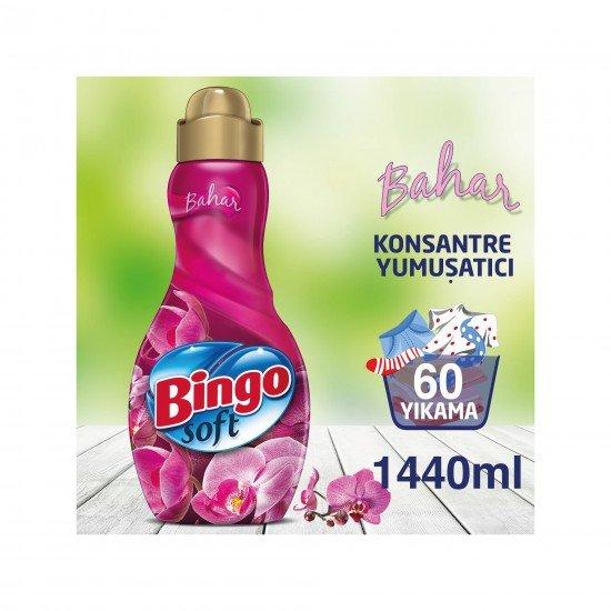 Bingo Soft Konsantre Çamaşır Yumuşatıcısı Bahar 1440 ml