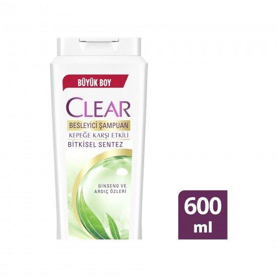 Clear Women Bitkisel Sentez İçeren Kadınlar İçin Şampuan 600 ML