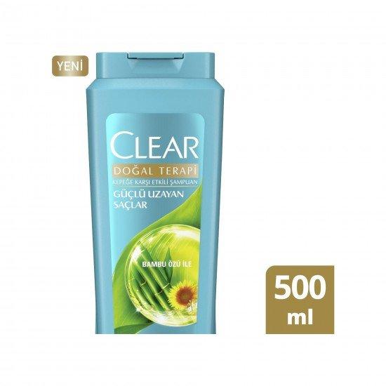 Clear Güçlü Uzayan Saçlar Kadınlar İçin Şampuan 500 ML