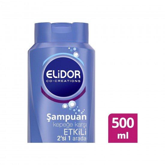Elidor Kepeğe Karşı Etkili 2In1 Saç Bakım Şampuanı 500 ML