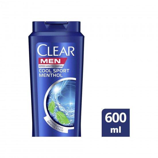 Clear Men Cool Sport Menthol Erkekler İçin Şampuan 600 ML