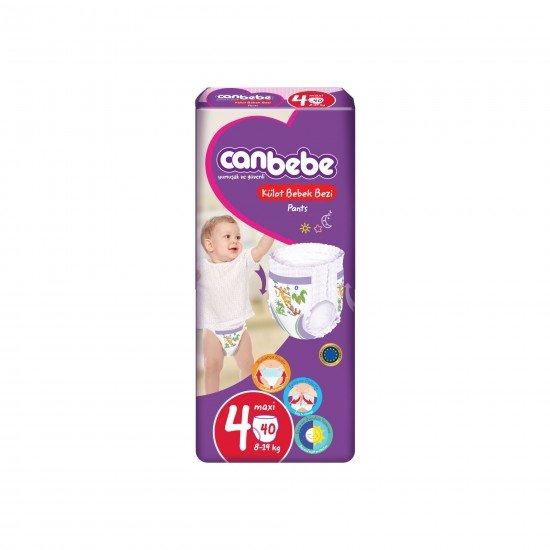 Canbebe Külot Bebek Bezi 4 Numara Maxi 40lı
