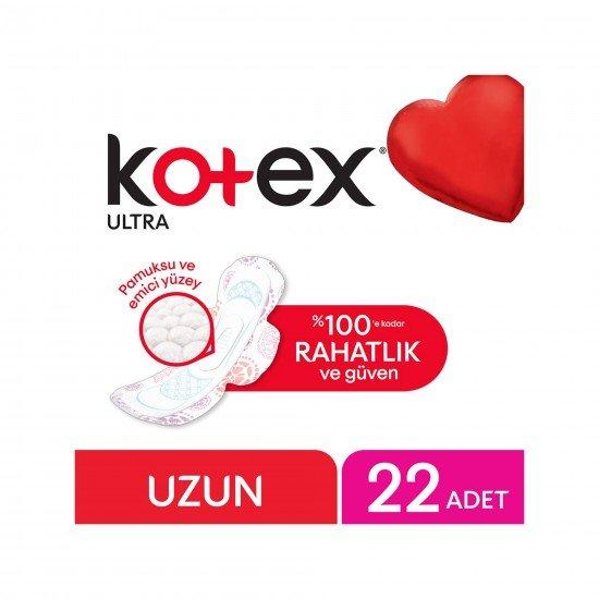 Kotex Ultra Uzun Hijyenik Ped Süper Ekonomik Paket 22 Adet