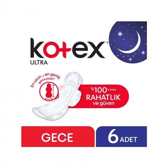 Kotex Ultra Gece Hijyenik Ped 6 Adet