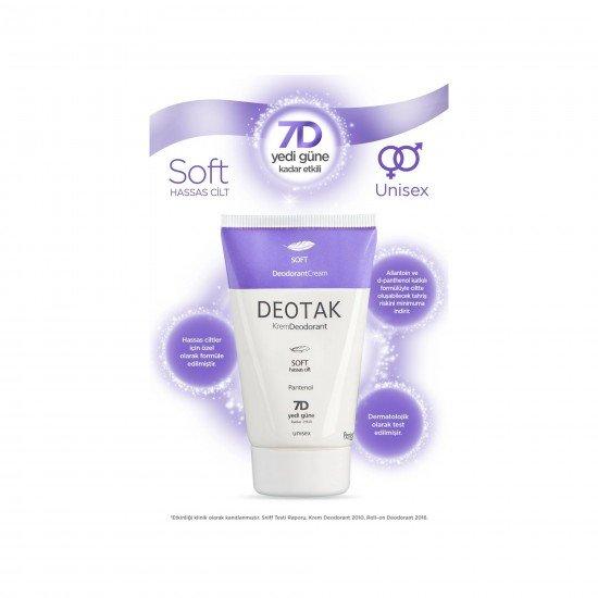 Deotak Hassas Ciltler İçin Soft Krem Deodorant 35 Ml