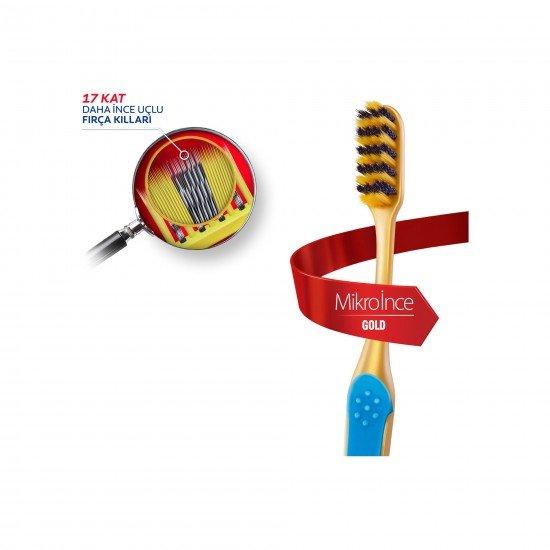 Colgate Mikro İnce Gold Diş Fırçası Ekstra Yumuşak 1+1