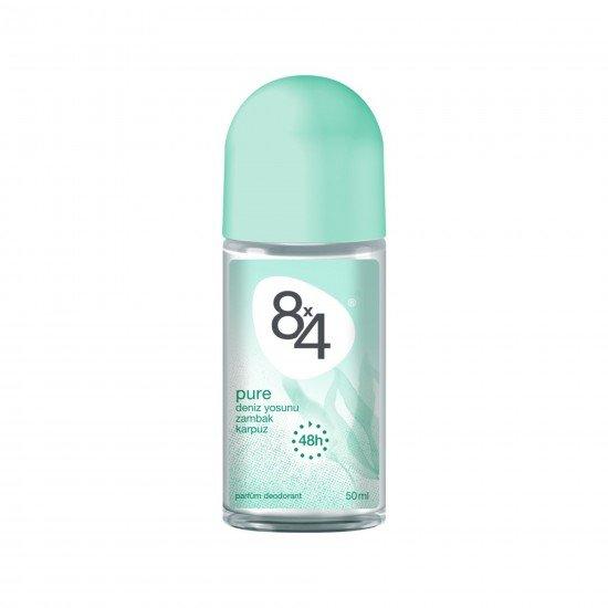 8X4 Pure Roll-On Deodorant 50 Ml Kadın