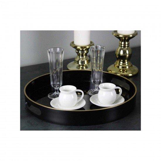 Acar Beyaz Porselen 6 Kişilik Sade Kahve Fincan Takımı 10132