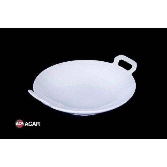 Acar Lüx Porselen Kulplu Sahan Servis 24 Cm