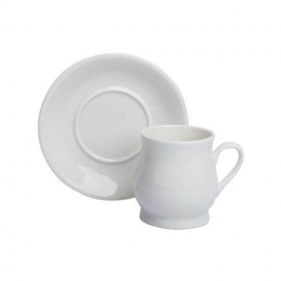 Acar Porselen 6lı Kahve Fincan Takımı Beyaz