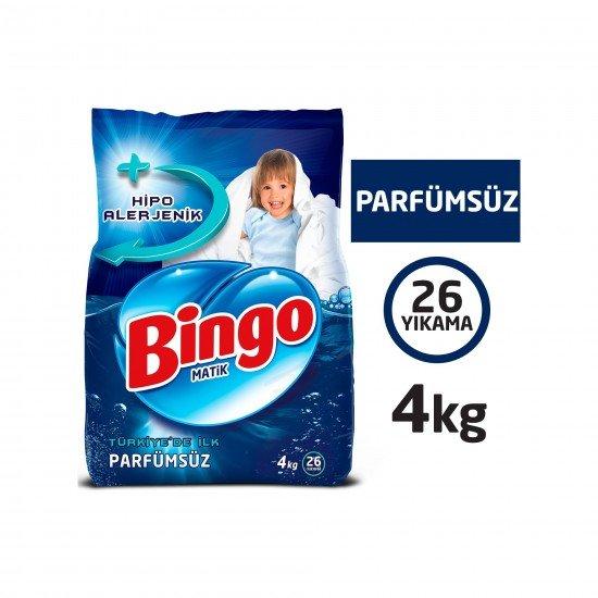 Bingo Parfümsüz Toz Çamaşır Deterjanı 4 kg 26 Yıkama