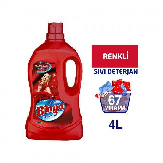 Bingo Renkli Sıvı Bakım Çamaşır Deterjanı 4 lt